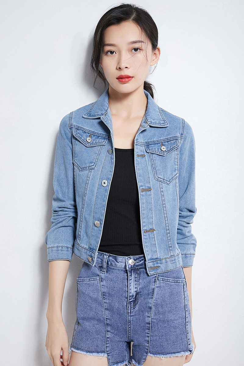 H9fd58ba936204bee889b3bc641b70fa0U Jeans Jacket and Coats for Women 2019 Autumn Candy Color Casual Short Denim Jacket Chaqueta Mujer Casaco Jaqueta Feminina