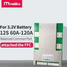 12 s 36v lifepo4 bms pcm com o equilíbrio que carrega 80a 100a 120a que descarrega protege as baterias conectadas em 12 séries para e bike