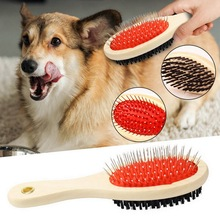 Pet Hair Removal Comb Cat Dog Fur Hair Double-sided Brush Pu