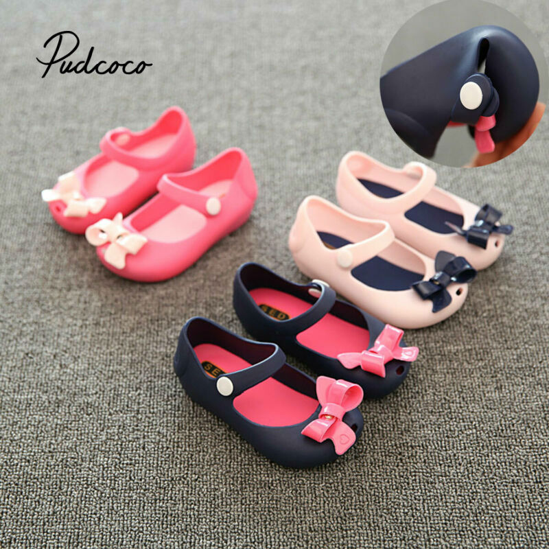 Pudcoco Fashion Girls Shoes 2019 Summer Sandals Children's Shoes PVC Jelly Beach Party Christmas Shoes Girls Princess Shoes