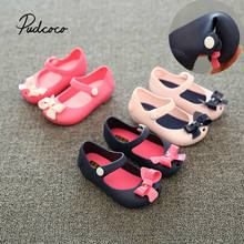 pudcoco Fashion Girls Shoes 2019 Summer Sandals Children's Shoes PVC Jelly Beach Party Christmas Shoes Girls Princess Shoes(China)