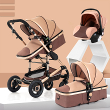 Детская коляска 3 в 1, легкая коляска, детская коляска с высоким пейзажем, детская коляска для 0-36 месяцев, детская коляска