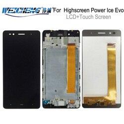 Dla highscreen power Ice Evo wyświetlacz LCD + zespół ekranu dotykowego Digitizer z ramką do power Ice Evo wyświetlacz + darmowe narzędzia w Ekrany LCD do tel. komórkowych od Telefony komórkowe i telekomunikacja na