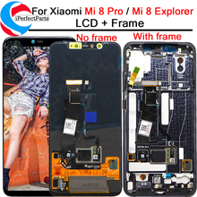 6.21 For Xiaomi Mi 8 Pro LCD Display Touch Screen Digitizer with frame Assembly Replacement + Tools For Mi 8 Explorer