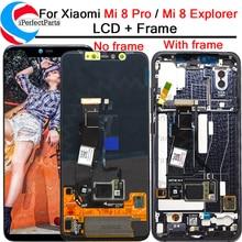 6.21 עבור Xiaomi Mi 8 Pro LCD תצוגת מסך מגע Digitizer עם מסגרת עצרת החלפה + כלים עבור Mi 8 Explorer