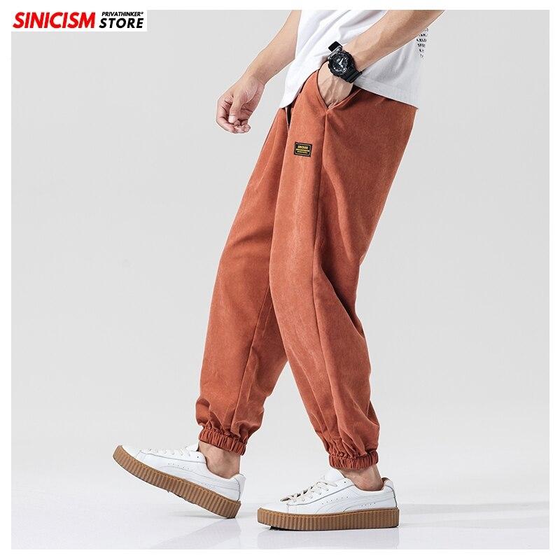 Sinicism Store 2019 Japan Oversize Men Casual Pants 5 Colors Full Length Autumn Men's Trousers Fitness Wide Leg Loose Male Pants