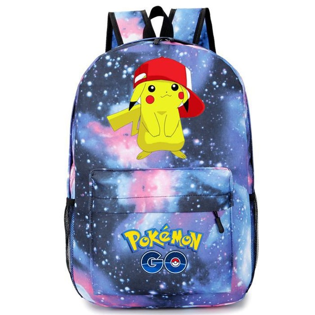 Anime Cartoon Pikachu Pokemon Backpack Pokemon For Female Computer Travel School Bags For Teenager Girls Boys Shoulder Bag