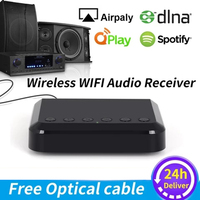 WR320 Wireless  WIFI Audio Receiver Multiroom Multiroom Music Adapter for Wired HiFi Speakers System Airplay Spotify DLNA NAS