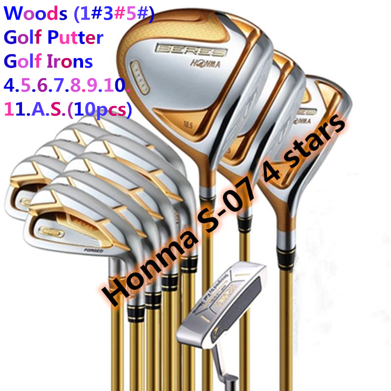 Men golf clubs Honma Beres S-07 4star golf club set intermediate golf clubs/ golf irons+driver+fairway wood+putter (14 pcs/set) 1