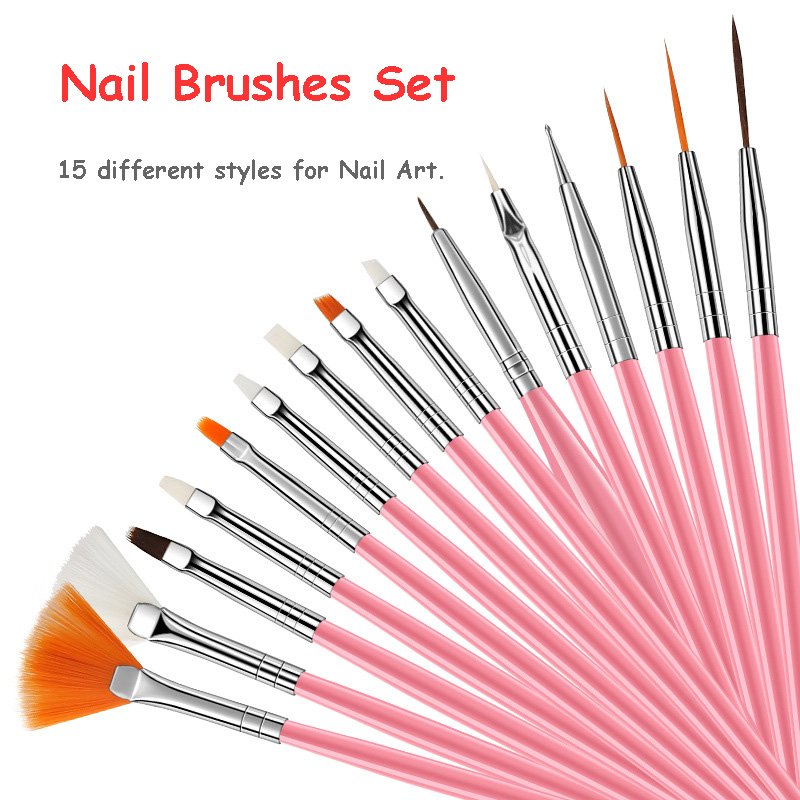 Professional Nail Art Brushes Set For UV Gel Acrylic Design Gel Liner Polish Gradient Painting Pen Manicure Nails Tips Tools Kit