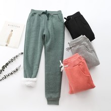 2019 New Women Winter Pant Thick Lambskin Cashmere Pants War
