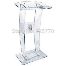 Высокое качество цена разумная дешевая прозрачная акриловая подиумная кафедра оргстекло
