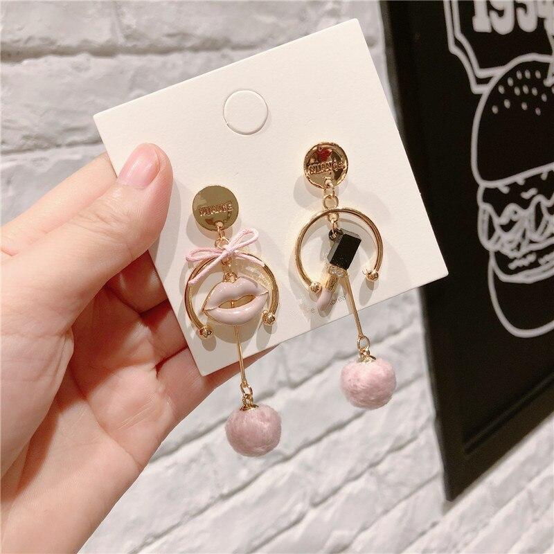 Fashion Luxury Long Tassel Earrings Perfume Bottle Camellia 5 Black White Wind Earring Gift Woman