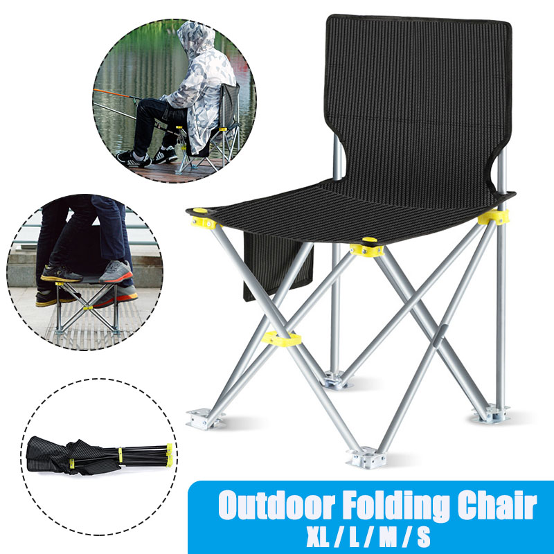 Travel Ultralight Folding Chair 200kg High Load Outdoor Camping Chair Portable Beach Hiking Picnic Seat Fishing Tools Chairs