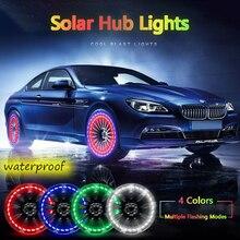 цена на Car Wheel Led Light Solar Energy Tire Lamp Decorative Waterproof Led Wheel Hub Light Car Motorcycle Valve Refitted Flash Lights