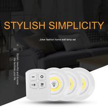 Bezprzewodowa możliwość przyciemniania COB pod szafką zdalnie sterowana lampka na baterię szafy światła do szafy oświetlenie łazienki tanie tanio Houkiper cabinet light Suche baterii Stop Other Przełącznik