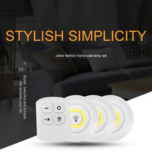 Wireless Dimmable COB Under Cabinet Light With Remote Control Battery Closets Lights For Wardrobe Bathroom Lighting