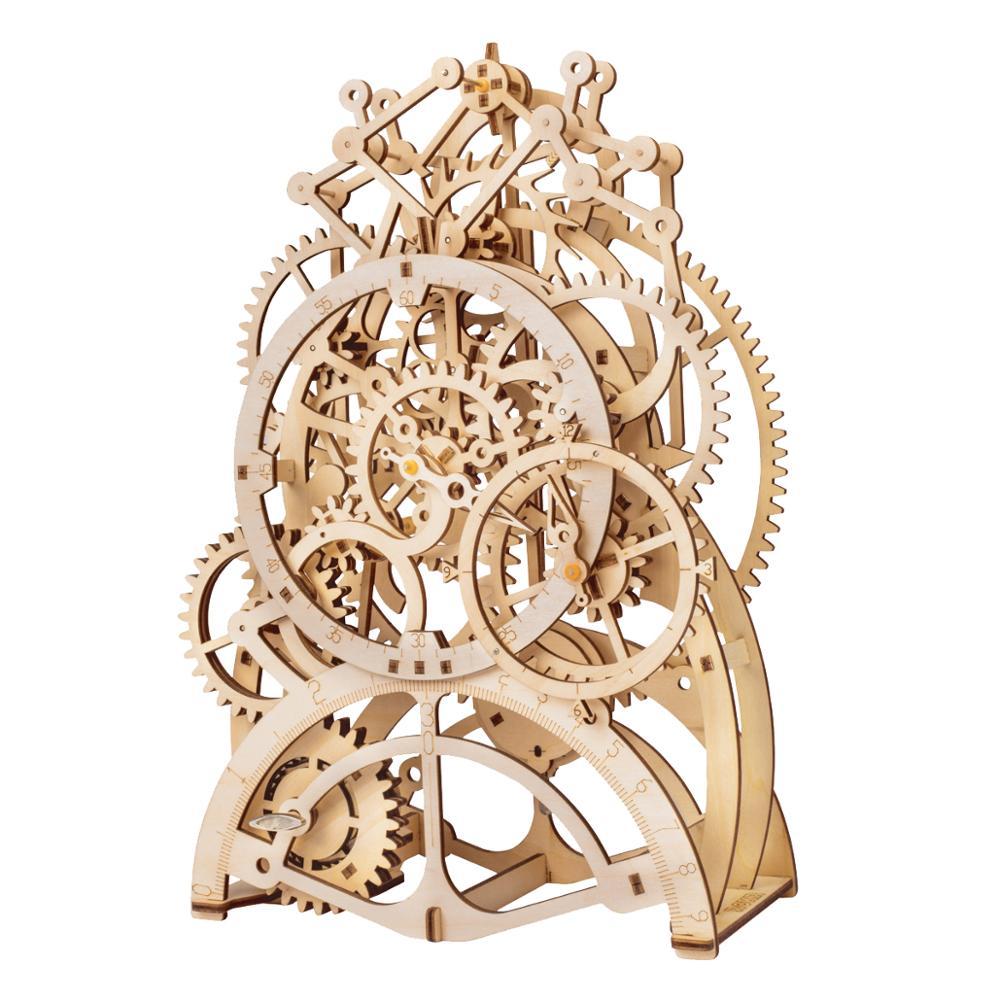 Robotime DIY Modell Gebäude Kits Laser Schneiden 3D Holz Mechanische Action Geschenk Spielzeug für Kinder LK für Dropshipping