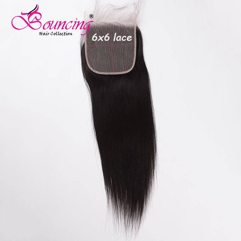 Bouncing Straight 6*6 Lace Closure With Baby Hair Natural Color Pre Plucked Hair Extentions Free Part Low Ratio Human Remy Hair