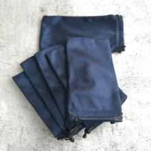 LANBO 50 adet 18*9.5cm kılıf çanta gözlük durumda yumuşak gözlük Charpie bez çanta toptan gözlük güneş gözlüğü durumda mavi renkli S27