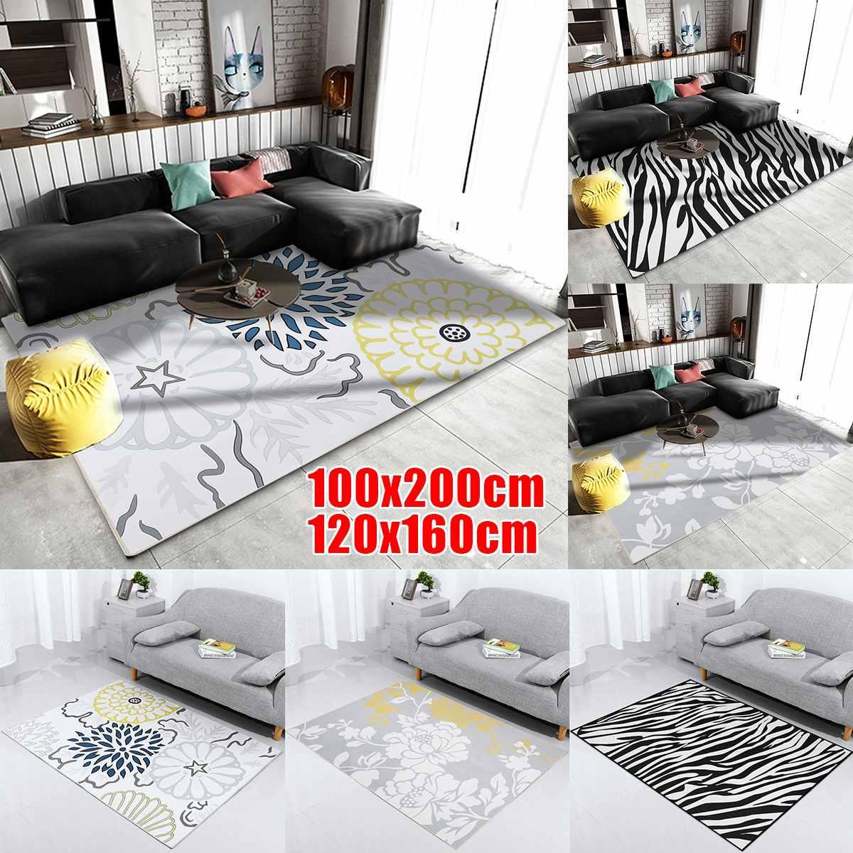 Antidérapant longue bande tapis peluches poussière facile à nettoyer hiver soie chaude tapis maison salon chambre porte décoration de la maison