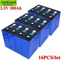 VariCore-Batería de viaje para sistema de almacenamiento de energía Solar, 3,2 V, 280AH, LiFePO4, 12V, 24V, 280000mAh, 16 Uds.