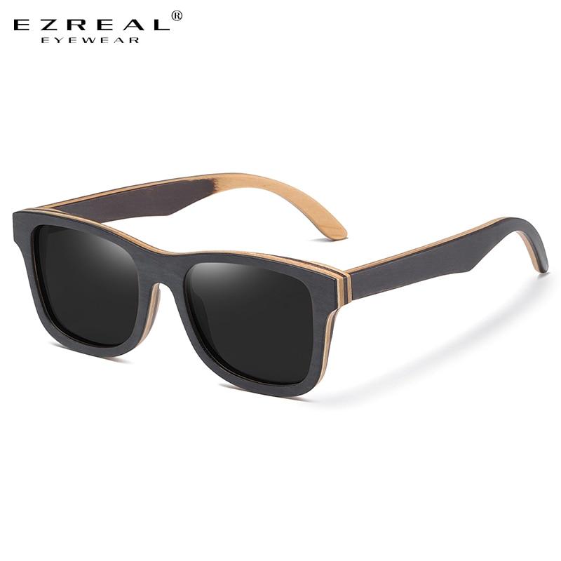GM Natural Wooden Sunglasses for Men Polarized  Sunglasses Full Frame Wood Shades Goggles Handmade For S6832