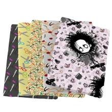 Tecido de algodão do poliéster da retalhos para o tecido crianças costurando telas estofando material do bordado diy feito à mão pano, c13745