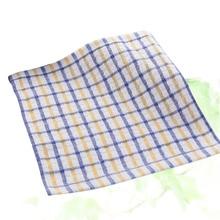 Tea-Towel Kitchen Cotton Yarn Rag Glass-Cloth Oil-Absorbing Non-Stick Window Washable