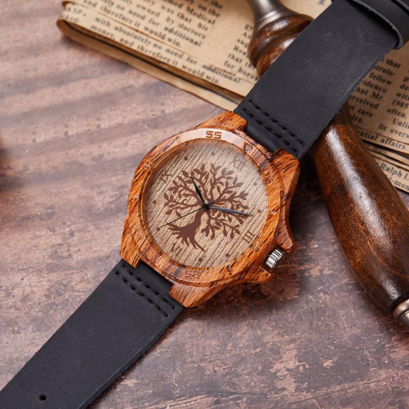 Gorben®™ Creative Imitation Nature Wooden Wristwatch   Moon Discount