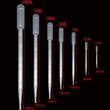 10 pezzi 0.2 / 0.5 / 1/2/3/5 / 10ML di Laboratorio Pipetta di Plastica Usa E Getta Laureato Contenitore liquido Contagocce Attrezzature di Paglia