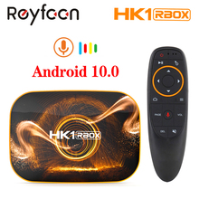 HK1 RBOX Smart TV Box Android 10.0 2G 4G RAM Rockchip RK3318 2.4G 5G Dual Wifi 4K Google Player Store Youtube Media player TVBOX