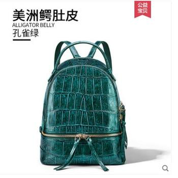 Mochila De piel de cocodrilo para mujer nueva moda bolsa de viaje con gran capacidad mochila de vientre de cocodrilo para mujer