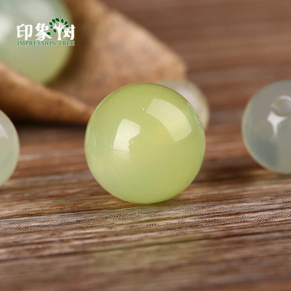 1 Uds. 6/8/10mm Natural verde uva gema de ágata cuentas para manualidades de pulseras collar hecho a mano fabricación de joyas 2021