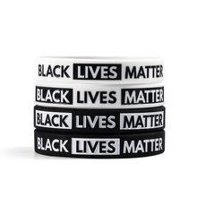 Силиконовый браслет с надписью «черная жизнь» «Я не могу дышать»