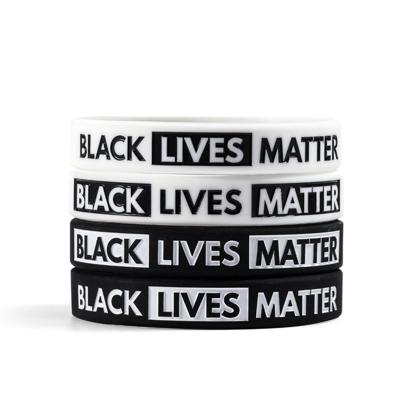 Black Lives Matter Silicone Wristband I Can't Breathe Wrist Band Rubber Bracelet & Bangles For Men Women Jewelry