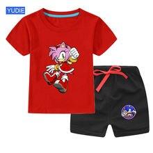 Комплект для маленьких мальчиков и девочек Спортивная футболка