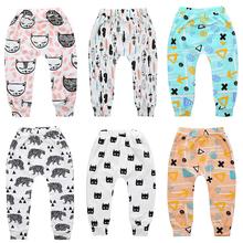 Chłopięce spodnie dla dzieci dziewczęce spodnie noworodek maluch dziecko Harem PP spodnie Harem spodnie gorąca dostawa geometryczny wzór tanie tanio NoEnName_Null CN (pochodzenie) CZTERY PORY ROKU Dziecko dla obu płci COTTON POLIESTER W wieku 0-6m 7-12m 13-24m 25-36m