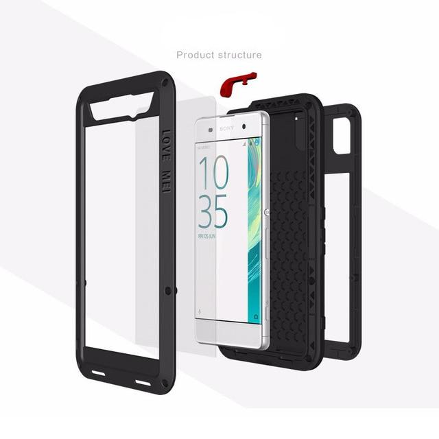 Gorilla glass металлический противоударный чехол для Sony Xperia XA1 Plus XA1 XA2 XA Ultra XA XA1 XA2 чехлы для телефонов Металлический Алюминиевый Чехол