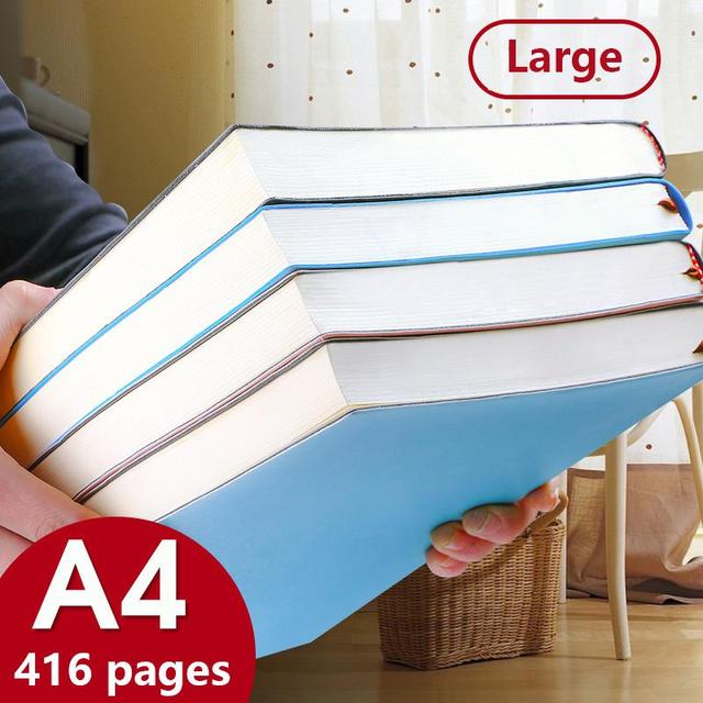 A4 Notebook 29x21 cm 416 Pages Lined Format Daily Writing Planner School Note Pad Homework Business Memopad Diary Notebook