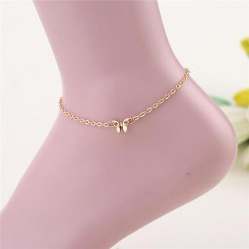 Waterproof Wax Thread Hand-knitted Anklet for Women Round Pendant Fashion Simple Beach Jewelry 4