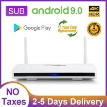 4K Android 9.0 TV Box Leadcool SUB Full HD Smart TV Box Amlogic S905W Quad Core 2.4Ghz Wifi Media Player Leadcool Set top Box