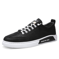 2020 Spring Shoes Korean version Men Sneakers Casual Soft Leather Men Shoes Brand Fashion Male White Shoes *