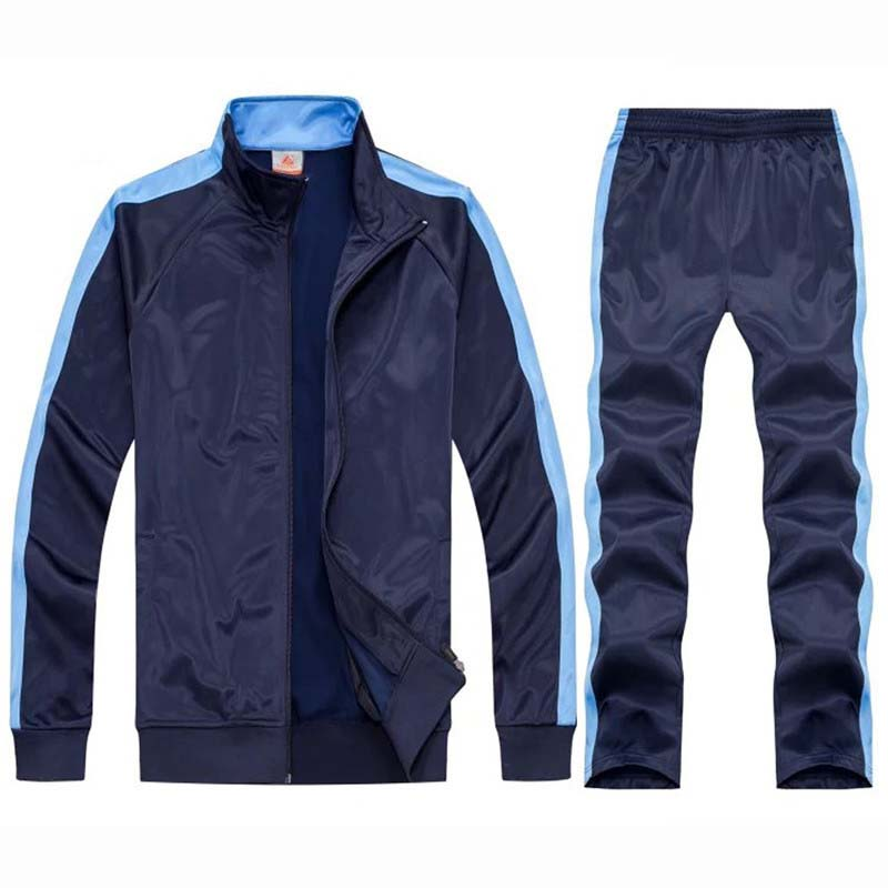 Image 4 - tracksuit men sport suits football training sweat suits school uniform jogging sportswear teengers track suits casual outfits-in Men's Sets from Men's Clothing