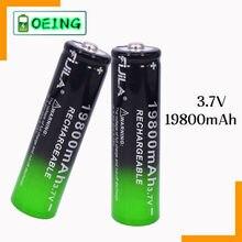 Новейшая литий-ионная аккумуляторная батарея 1 ~ 20 шт. 18650, 3,7 В, 19800 мАч, перезаряжаемая литий-ионная батарея для внутреннего светодиодного ка...