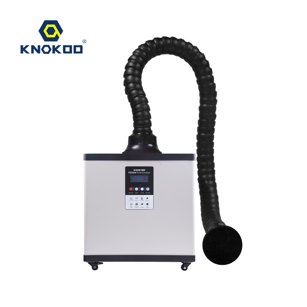 KNOKOO 200W Digital Display Remote Control Soldering Fume Extractor Smoke Absorber FES200 Laser Smoke extractor Machine