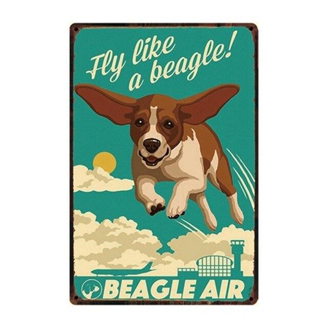 Chien règles bouledogue Boxer Beagle grand danois métal signes belle étain affiche décor à la maison Pub Bar jardin mur Art fer étain peinture