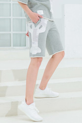 2020 mode TB THOM Marke Casual Frauen Sommer Patchwork Sport Hosen Patch Hip Hop Lose Knie Länge Shorts