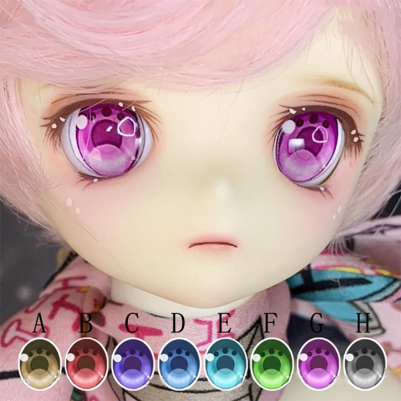 BJD Doll Eyes 10-24mm Doll Eyes Animal Claw Eyes With Metallic Effect For 1/8 1/6 1/4 1/3 BJD SD DD Doll Accessories