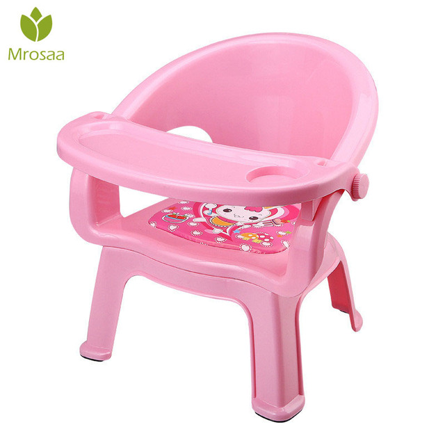 2019New Children's Dining Chair With Plate Baby Eating Table Baby Chair Dining Table Back Call Called Chair Baby Plastic Stool